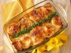POTATO, LEEK AND  SUNDRIED TOMATO BAKE recipe